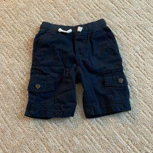 cat & jack blue cargo shorts size 3T